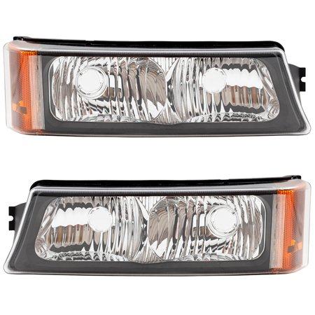 BROCK Park Signal Front Marker Lights Lamps Driver and Passenger Replacements for Chevrolet Silverado Avalanche Pickup Truck 15199556 15199557 Chevrolet Front Marker Light