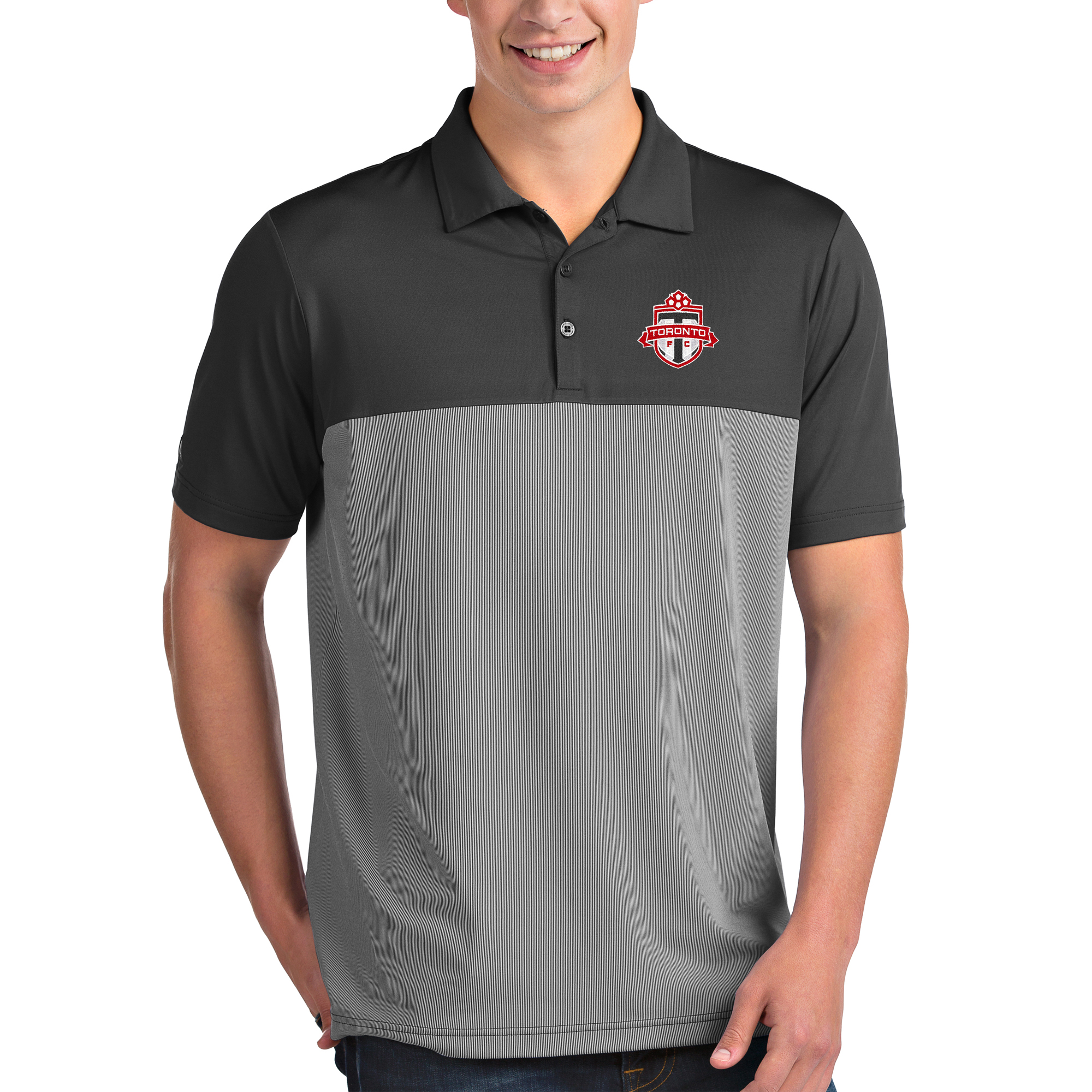Toronto FC Antigua Venture Polo - Heathered Gray/White