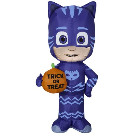 The Holiday Aisle Catboy SM PJ Masks Inflatable with Trick or Treat - Sm Halloween Events