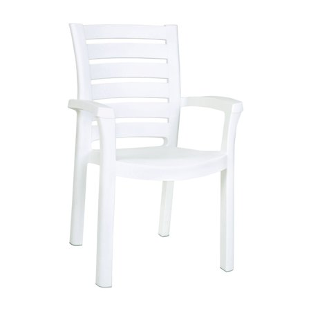 Resin Chaise - Siesta Marina Resin Dining Arm Chair - White - Set of 4