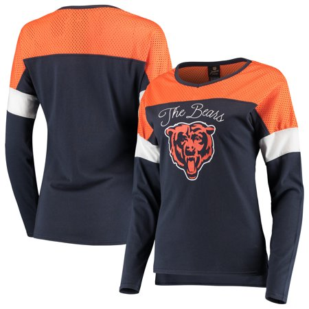 Chicago Bears Juniors Team Blocker Color Block T-Shirt -