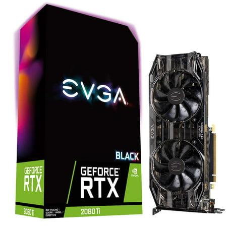EVGA GeForce RTX 2080 Ti BLACK EDITION GAMING 11GB GDDR6 Video Graphics (Ega Video)