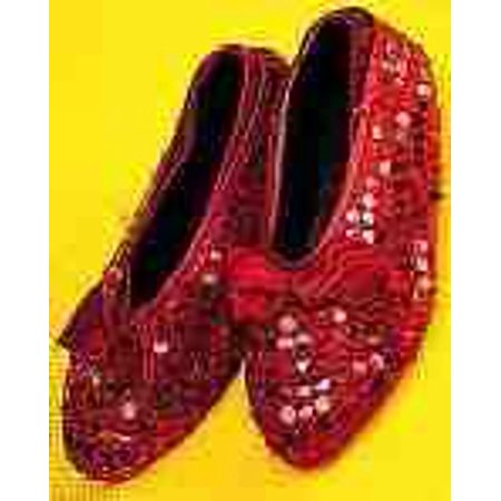 RED SEQUIN SHOE COVERS-CHILD (Dorothy Shoes)