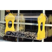 Window Bird Feeder JCs Wildlife Holds 4 Cups Yellow Recycled Poly Free Shipping