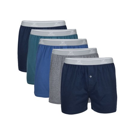 George Men's Knit Boxers, 5-Pack