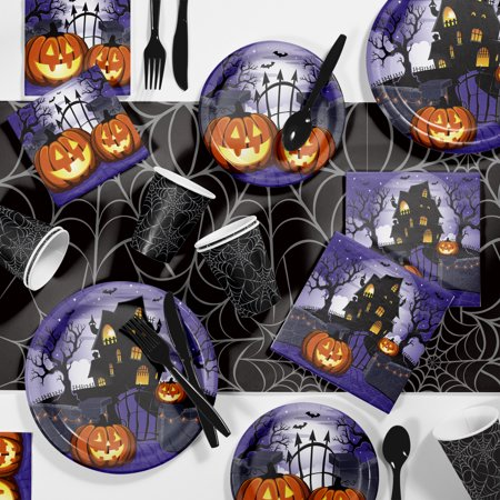 Creative Halloween Party Snacks (Haunted House Halloween Party Supplies Kit (81pc - Serves 8)
