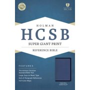 HCSB Super Giant Print Reference Bible, Cobalt Blue LeatherTouch