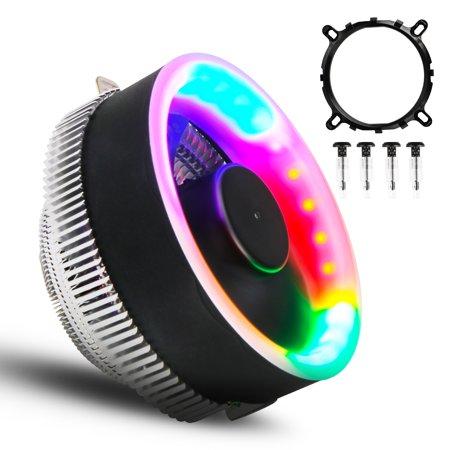 TSV 5 Color LED CPU Cooler Fan Heatsink for Intel LGA1156 / 1155 / 775 Socket, AMD