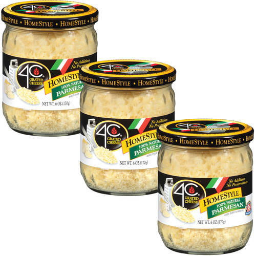 4C HomeStyle Parmesan Grated Cheese, 6 oz (Pack of 3)