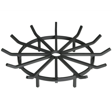 Heritage Products Heavy Duty 32 Inch Wagon Wheel Fire Pit Grate - Made in the (Heavy Duty Continuous Grates)