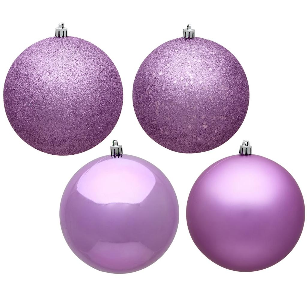 "Vickerman 484258 - 4.75"" Orchid Assorted Ball Christmas Tree Ornament (Set of 4) (N591269A)"