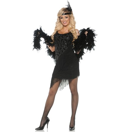 866b3ef4a19 Speak Easy Womens Adult Black Roaring 20S Flapper Halloween Costume -  Walmart.com