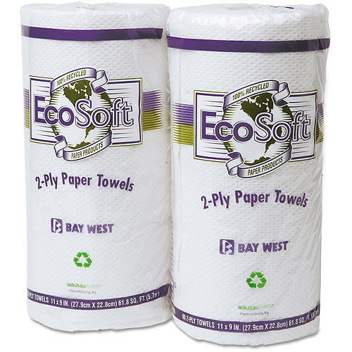 Wausau Paper EcoSoft 2-Ply Paper Towels, 90 sheets, (Pack of 30)