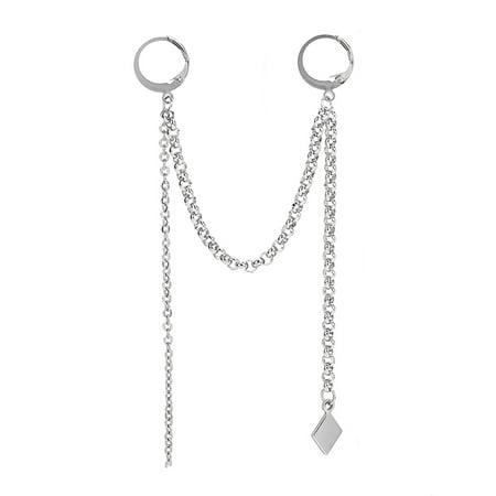 Fancyleo 1PC KPOP BTS Bangtang Boys Earrings Clip V Tassels Ear Stud Unisex Best Gift
