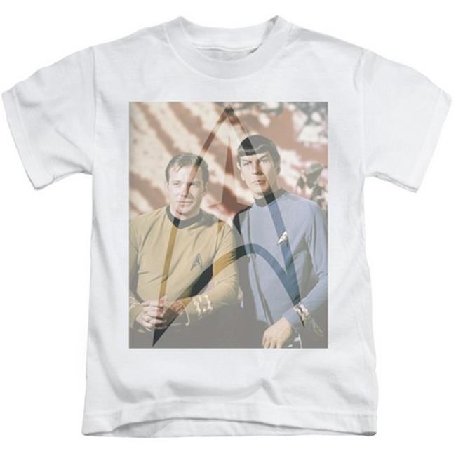 Star Trek-Classic Duo - Short Sleeve Juvenile 18-1 Tee - White, Large 7 - image 1 of 1