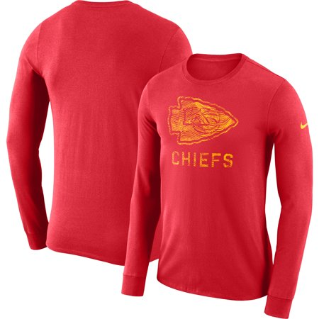 Kansas City Chiefs Jersey - Kansas City Chiefs Nike Sideline Seismic Performance Long Sleeve T-Shirt - Red