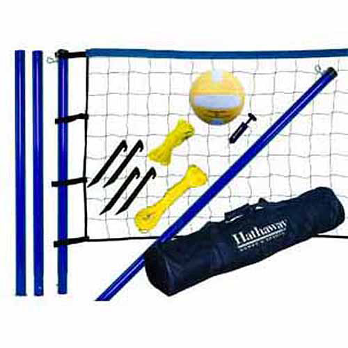 Hathaway Portable Volleyball Net, Posts, Ball and Pump Set