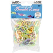 Darice Stretch Band Bracelet Loops and S Clips Set Glow in The Dark