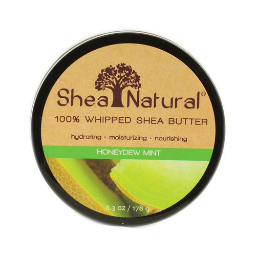 Shea Natural 100% Whipped Shea Butter Honeydew Mint - 6.3 Oz