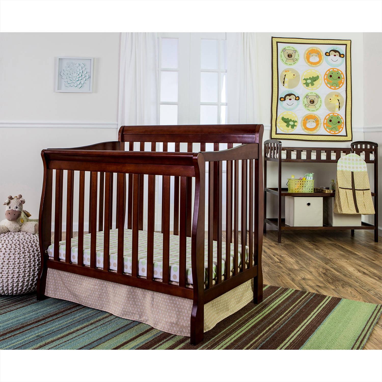 Dream On Me Animal Kingdom 4-Piece Reversible Portable Crib Bedding Set