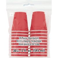 (3 Pack) Mini Party Cup Shot Glasses, 2 oz, Red, 20ct