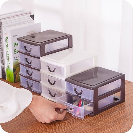 Plastic Transparent Drawer Organizer Home Kitchen Board Divider Makeup Storage Boxes - image 6 of 8