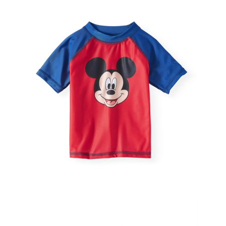 Mickey Mouse Cutouts (Mickey Mouse Toddler Boys' Rashguard Swim)