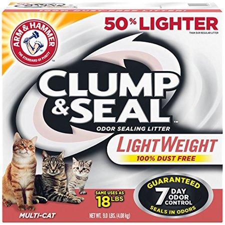 Clump And Seal Lightweight Multi Cat Litter 9 Pound  Usa  Brand Arm   Hammer