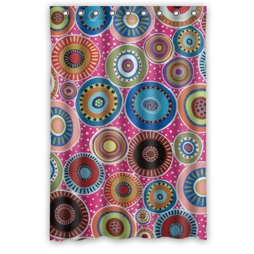 HelloDecor Mexican Style Flower Floral Shower Curtain