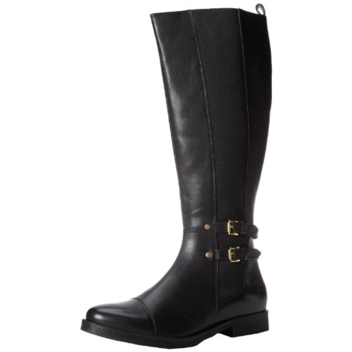 Bronx Womens Loop Hole Leather Knee-High Riding Boots by Bronx