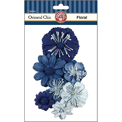 Ruby Rock-It ADE70 Oriental Chic Paper Florals 7-Pkg-