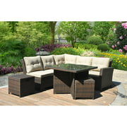 Better Homes and Gardens Baytown 5-Piece Woven Sectional Sofa Set, Seats 5