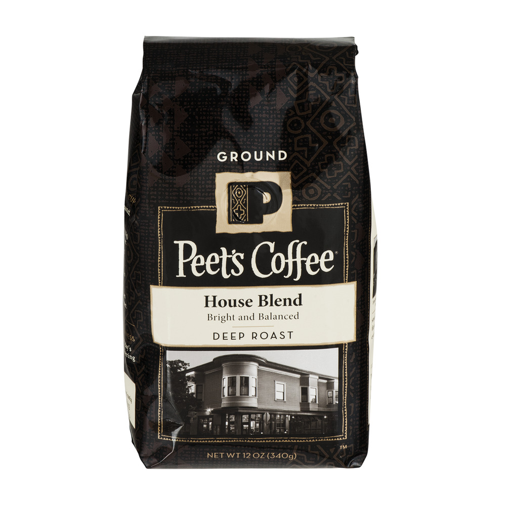 Peet's Coffee House Blend Deep Roast Ground Coffee, 12.0 OZ