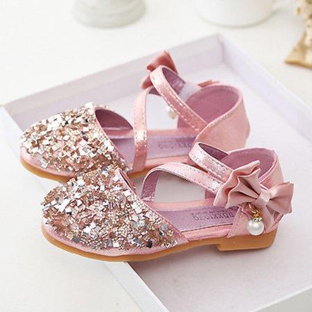 Kids Girls Baby Fashion Princess Dance Leather Casual Single Shoes