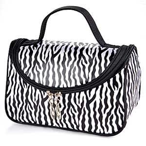 Zebra Animal Print Tote - Marsin StyleZ Fashion Zebra Pattern Lady Makeup Bag Women Portable Cosmetic Toiletry Bags Carry Tote Travel Storage Organizer
