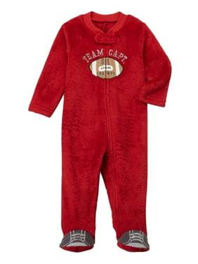 405d6539a4 Product Image Infant Boys Red Fleece Football Blanket Sleeper Sleep   Play Footie  Pajamas