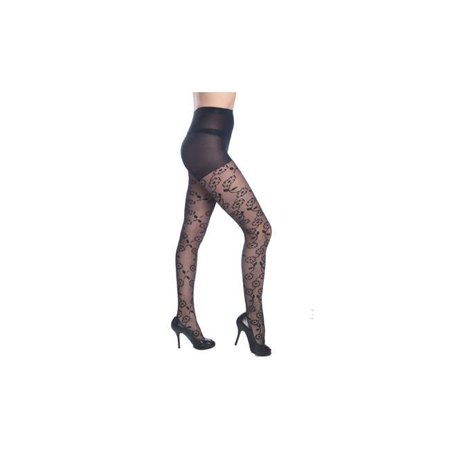 Flower Fashion Designed Textured Tights - One Size - Case of 42 - image 1 of 1
