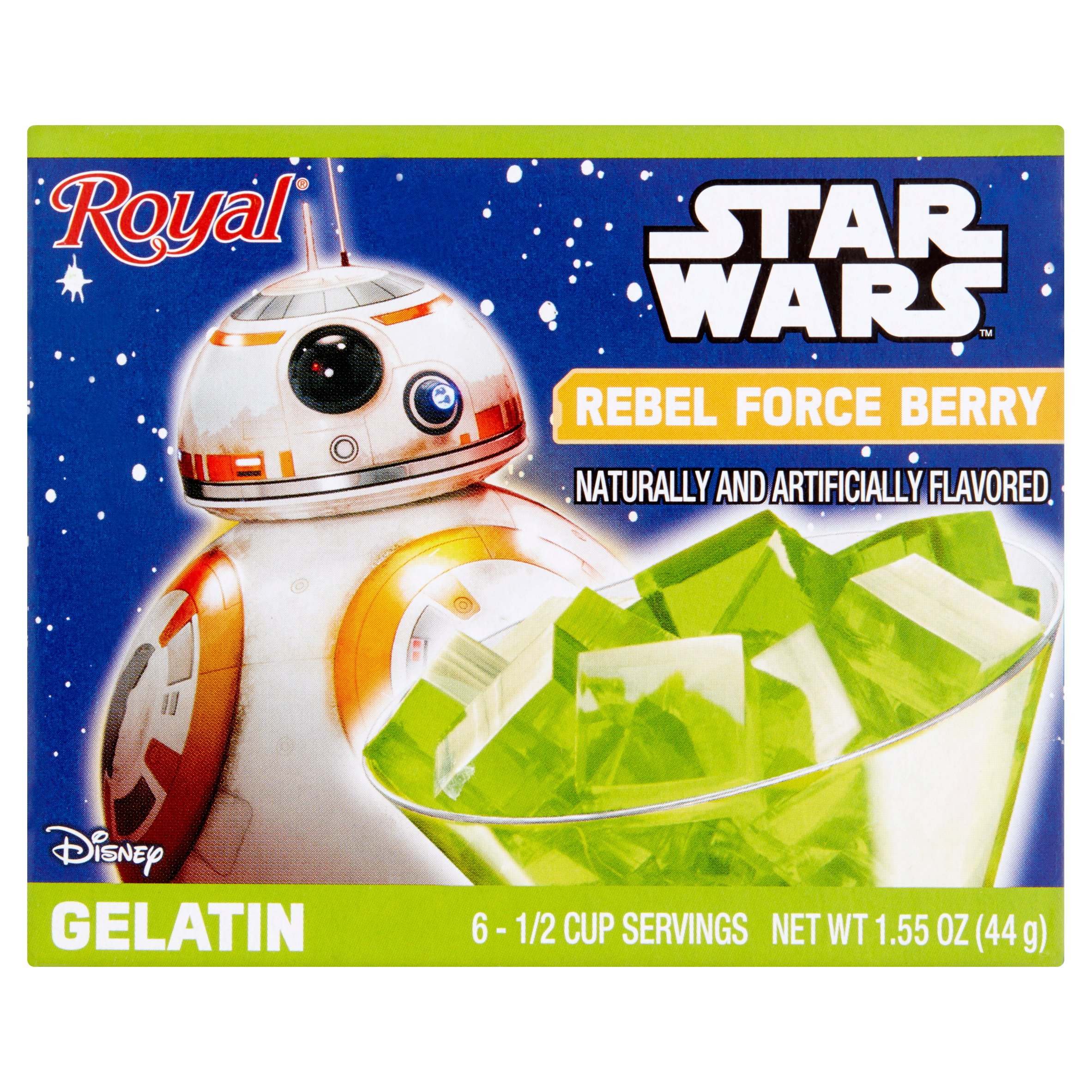 (3 Pack) Disney Royal Rebel Force Berry Gelatin, 1.55 oz