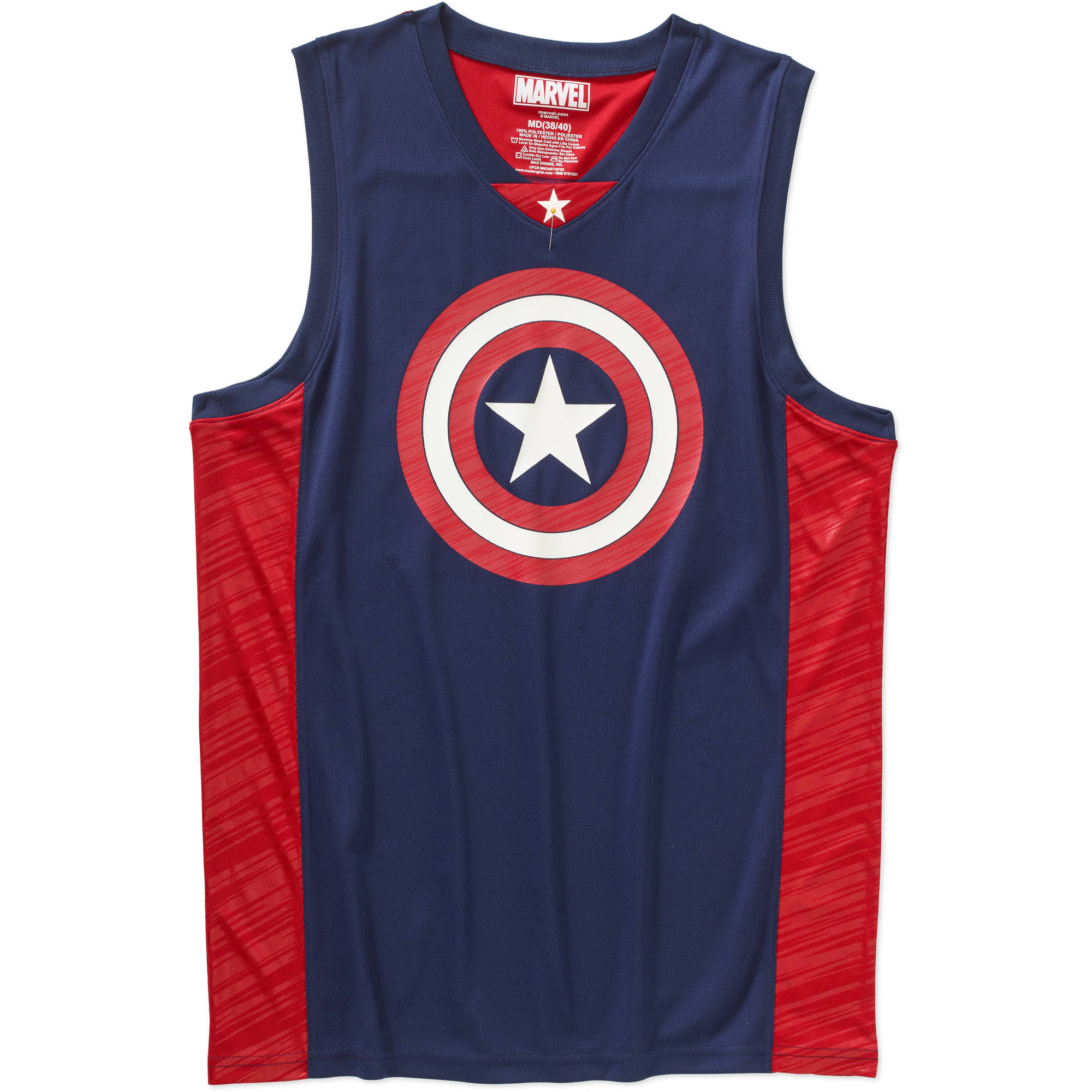 Captain America Mens Basketball Jersey Tank