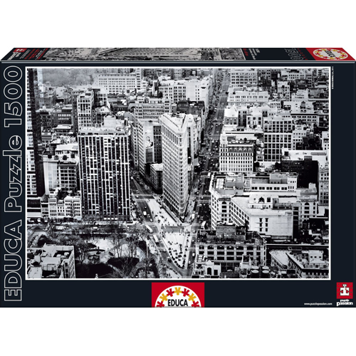 Educa 1500 Piece Intersection Black & White Puzzle