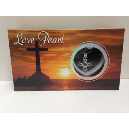 Love Wish Purity Pearl Kit w/ Pendant Necklace Gift Box; Mermaid, Manatee & More (Cross) (Cross Pearl Necklace)