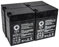 SPS Brand 6 V 14 Ah Replacement Battery with Terminal T1T2 for Siemens LEM (4 PACK) by Sigma Power Systems