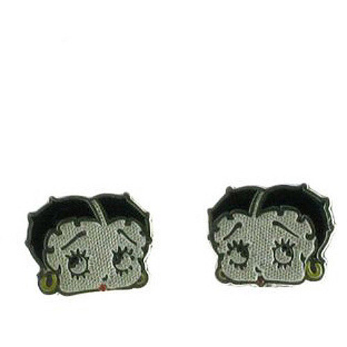 Betty Boop Sterling Silver Stud Earrings