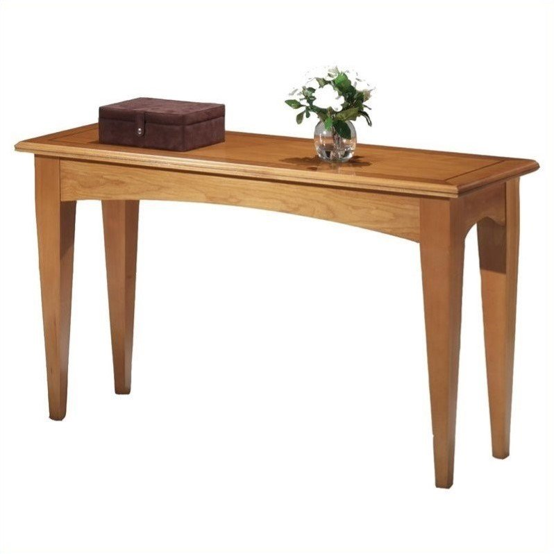 Flexsteel Belmont Console Table-Brown Cherry