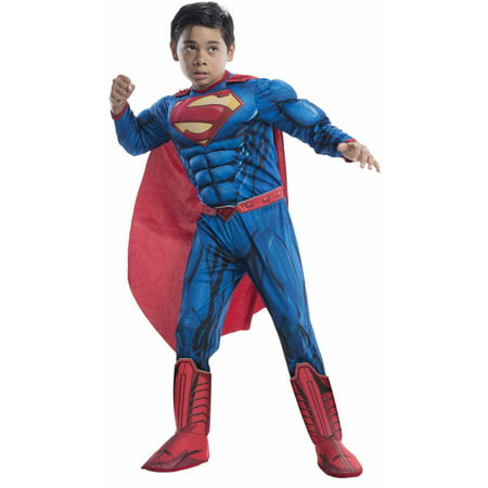 Superman Deluxe Child Halloween Costume (Easy Halloween Costumes For Guys In College)