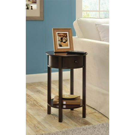 Espresso Round End Table (Ameriwood Home Round End Table, Espresso)