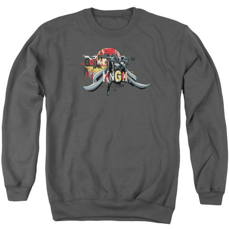 DARK KNIGHT RISES/GOTHIC KNIGHT - ADULT CREWNECK SWEATSHIRT - CHARCOAL - MD