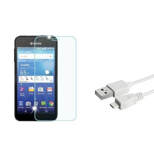 Insten Clear Screen Protector Guard For Kyocera Hydro Wave (Bundle with USB Data Cable)