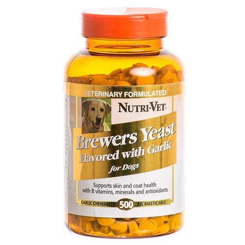Nutri-Vet Brewers Yeast Chewables for Dogs - Garlic Flavored 500 Count