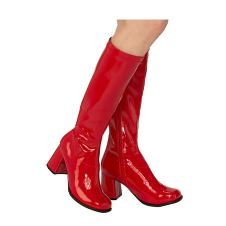 Halloween Costume Wearing Boots (Adult GoGo Boot Red Halloween Costume)